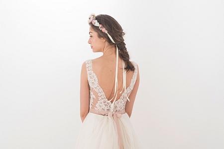 hochzeitskleid brautkleid white violet mit jäckchen
