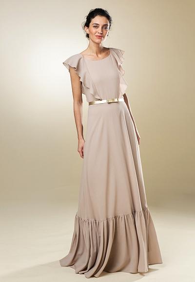 nos_107 langes kleid mit rüschen