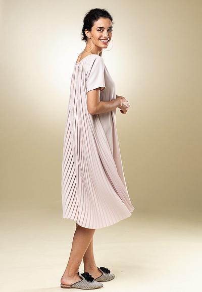 nos_78 kleid mit plisseerücken